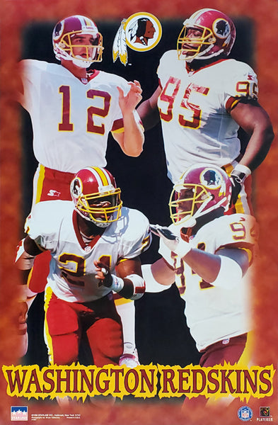 "Washington Redskins ""Four Stars"" Poster (Frerotte, Allen, Wilkinson, Stubblefield) - Starline 1998"