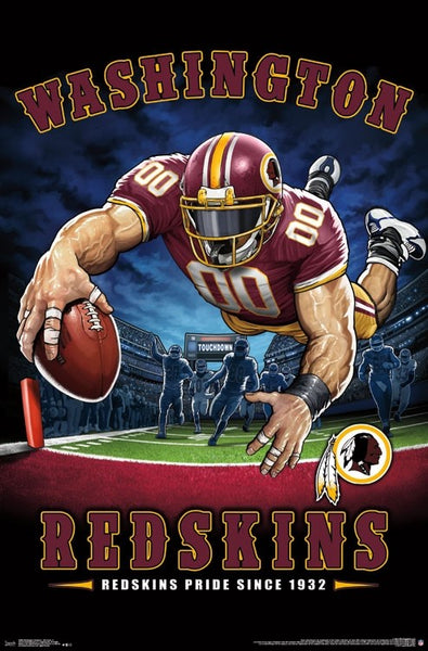 "Washington Redskins ""Redskins Pride Since 1932"" NFL Theme Art Poster - Liquid Blue/Trends Int'l."