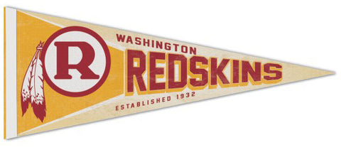 Washington Redskins NFL Retro 1971-72 Style Premium Felt Collector's Pennant - Wincraft Inc.