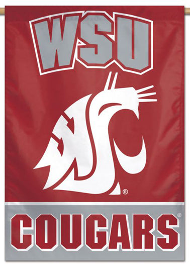 Washington State Cougars Official NCAA Team Logo Style NCAA Premium 28x40 Wall Banner - Wincraft Inc.