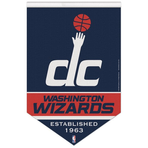 "Washington Wizards ""Est. 1963"" Official NBA Basketball Premium Felt Banner - Wincraft"
