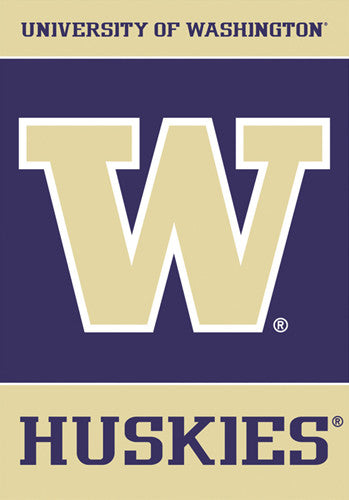 Washington Huskies Official 28x40 NCAA Premium Team Banner - BSI Products