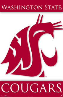 Washington State Cougars Official NCAA Logo Poster - Costacos Sports