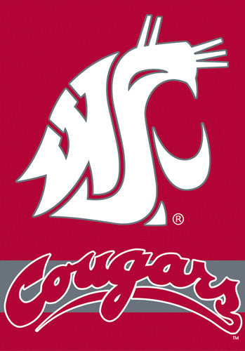 Washington State Cougars Official 28x40 NCAA Premium Team Banner - BSI Products
