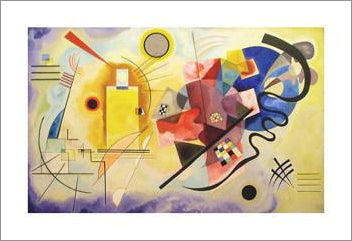 "Wassily Kandinsky ""Gelb Rot Blau"" (Yellow Red Blue) 1925 Art Masterpiece 24x32 Poster Print"