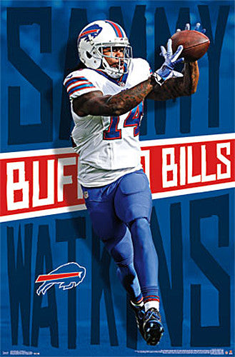 "Sammy Watkins ""Superstar"" Buffalo Bills Wide Receiver NFL Action POSTER - Trends International"