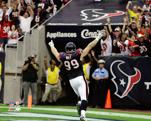"J.J. Watt ""Playoff Hero"" (2012) Houston Texans Premium Poster Print - Photofile 16x20"