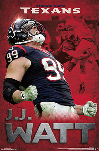 "J.J. Watt ""Roar"" Houston Texans NFL Football Wall Poster - Trends International"
