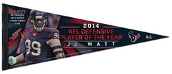 J.J. Watt 2014 NFL Defensive Player of the Year Houston Texans Premium Felt Collector's Pennant
