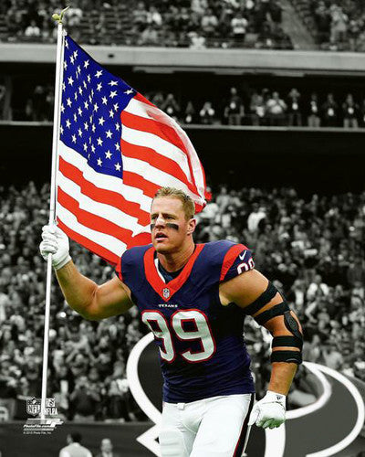 "J.J. Watt ""Patriot"" Houston Texans Premium NFL Poster Print - Photofile 16x20"
