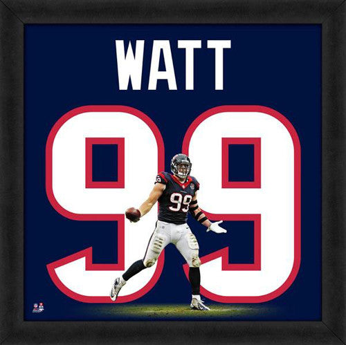 "J.J. Watt ""Number 99"" Houston Texans FRAMED 20x20 UNIFRAME PRINT - Photofile"