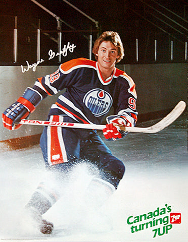 "Wayne Gretzky ""Canada's Turning..."" Edmonton Oilers Vintage Poster - 7-Up 1982"