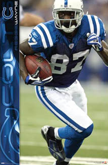"Reggie Wayne ""Big Gain"" Indianapolis Colts Poster - Costacos 2008"