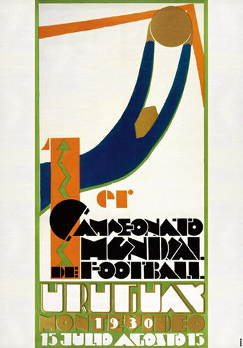 FIFA World Cup 1930 Uruguay Event Poster Official Archival Reprint (#0957)
