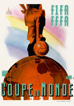 FIFA World Cup 1938 France Event Poster Official Archival Reprint (#0959)