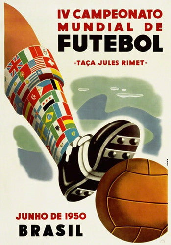 FIFA World Cup 1950 Brazil Event Poster Official Reprint (#0960)