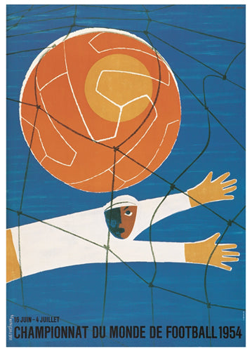 FIFA World Cup 1954 Switzerland Event Poster Official Reprint