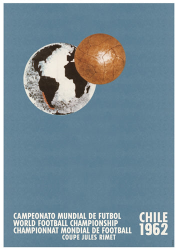 FIFA World Cup 1962 CHILE Event Poster Official Reprint