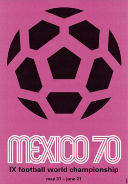 FIFA World Cup 1970 Mexico Event Poster Official Reprint (#0964)