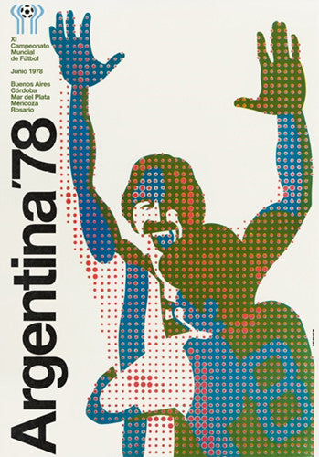 FIFA World Cup 1978 Argentina Event Poster Official Reprint (#0965)