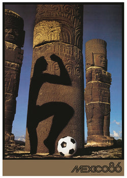 FIFA World Cup 1986 Mexico Soccer Football Event Poster Official Reprint Edition