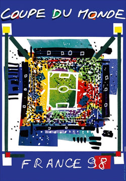 FIFA World Cup 1998 France Event Poster Official Reprint Edition (#0969)