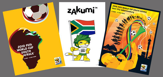 World Cup South Africa 2010 Official 3-Poster Combo - FIFA Originals