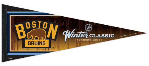 Boston Bruins Official Winter Classic Foxboro 2016 Premium Felt Collector's Pennant - Wincraft