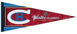 Montreal Canadiens Official Winter Classic Foxboro 2016 Premium Felt Collector's Pennant - Wincraft