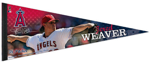"Jered Weaver ""Signature"" Los Angeles Angels Premium Felt Collector's Pennant - Wincraft 2013"