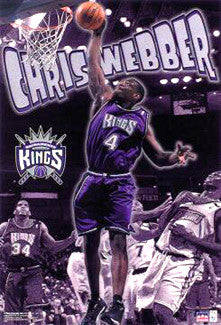 "Chris Webber ""Action"" Sacramento Kings NBA Action Poster - Starline 2001"