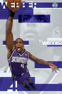 "Chris Webber ""PowerSlam"" Sacramento Kings Poster - Costacos 2003"