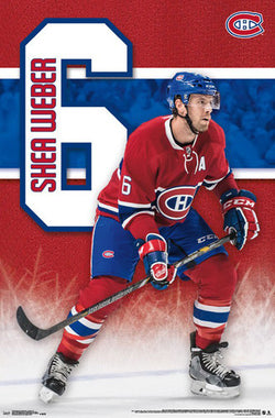 "Shea Weber ""Superstar"" Montreal Canadiens NHL Action Wall POSTER - Trends 2016"