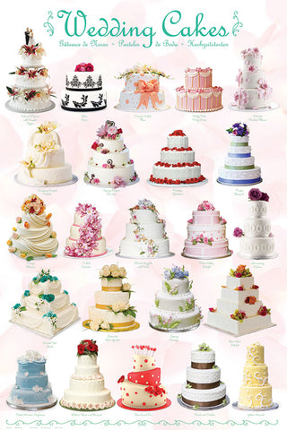 Wedding Cakes Bakery Poster (20 Delectable Creations) - Eurographics Inc.