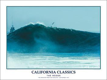 "Surfing ""The Wedge"" California Classics Poster Print - Creation Captured"