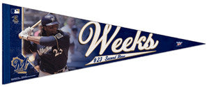 "Rickie Weeks ""Action"" Premium Felt Collector's Pennant (LE /2,011) - Wincraft Inc."