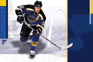 "Doug Weight ""Blue Heaven"" St. Louis Blues NHL Hockey Poster - Costacos 2001"