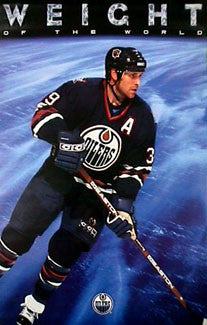"Doug Weight ""Weight of the World"" Edmonton Oilers Poster - Costacos 1998"