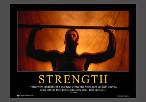 "Weightlifting ""Strength"" (Sam Ewing Quote) Motivational Inspirational Poster - Jaguar"