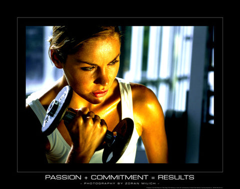Passion + Commitment = Results (Women's Fitness) - SportsPosterWarehouse.com
