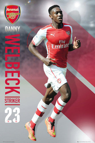 "Danny Welbeck ""Superstar"" Arsenal FC Soccer Superstar Action Poster - GB Eye 2015"