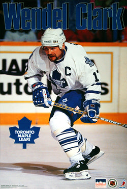 "Wendel Clark ""The Captain"" Toronto Maple Leafs Poster - Starline 1994"
