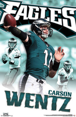 "Carson Wentz ""Superstar"" Philadelphia Eagles NFL Action Wall Poster - Trends International"