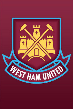 West Ham United Official EPL Football Soccer Team Crest Logo Emblem Poster - Pyramid Posters (UK)