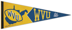 West Virginia Mountaineers NCAA College Vault 1970s-Style Premium Felt Collector's Pennant - Wincraft Inc.