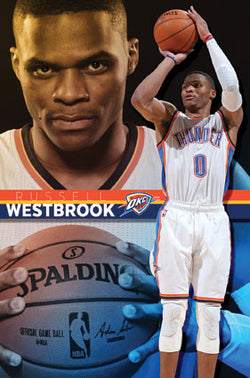 "Russell Westbrook ""Superstar"" Oklahoma City Thunder NBA Poster - Trends International"