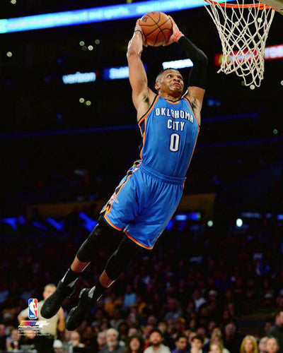"Russell Westbrook ""Soaring"" Oklahoma City Thunder Premium NBA Poster Print - Photofile 16x20"