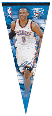 "Russell Westbrook ""BIG-TIME"" Extra-Large Premium Felt Collector's Pennant"