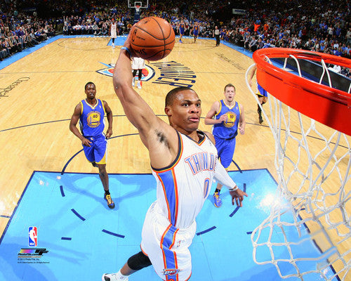 "Russell Westbrook ""Above the Rim"" Oklahoma City Thunder Premium NBA Poster Print - Photofile 16x20"