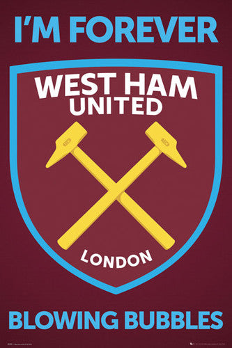 West Ham United Official EPL Football Soccer Team Crest Logo Emblem Poster - GB Eye Inc.